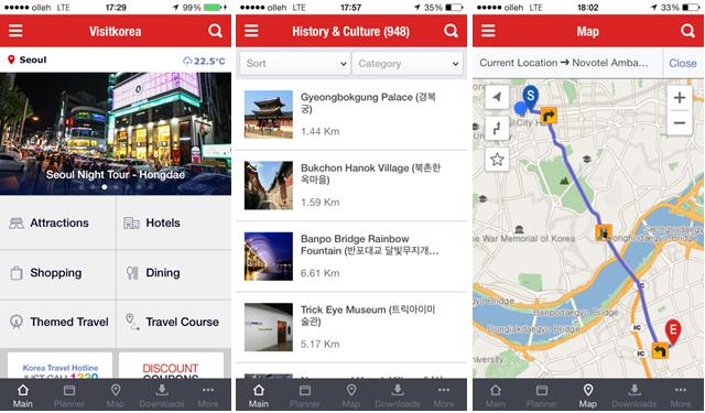 VisitKorea app screen
